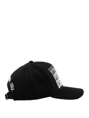 DSQUARED2: cappelli online - Cappellino con ricamo logo ripetuto