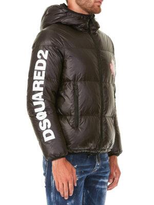 DSQUARED2: giacche imbottite online - Piumino d'oca in nylon con logo a contrasto