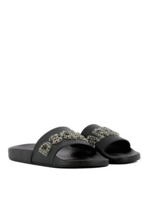 DSQUARED2: sandali online - Ciabatta Dune impreziosita