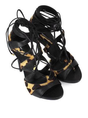 DSQUARED2: sandali online - Sandali Safari Tie Me Up con tacco
