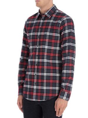 DSQUARED2: camicie online - Camicia Check Relax Dan
