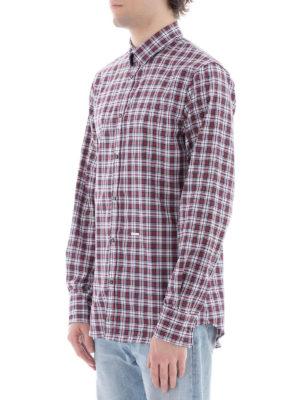 DSQUARED2: camicie online - Camicia in cotone motivo a quadri