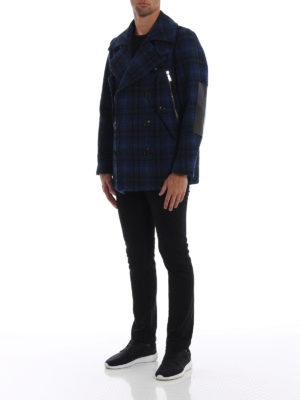 DSQUARED2: cappotti corti online - Caban mono petto in lana a quadri