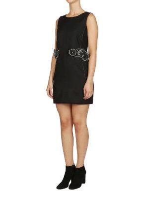 DSQUARED2: abiti corti online - Tubino in lana con dettaglio cintura
