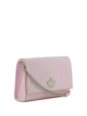 DSQUARED2: borse a spalla online - 50's Prom Disco Bag in vernice rosa
