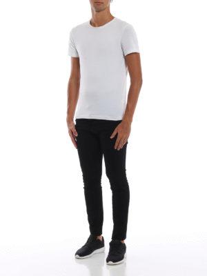 DSQUARED2: jeans skinny online - Jeans neri Skater a vita bassa