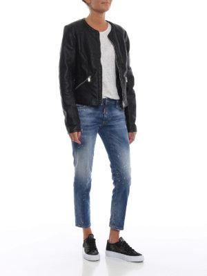DSQUARED2: jeans skinny online - Jeans crop Twiggy vita media