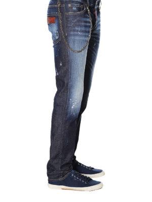 a sigaretta - Jeans slim con dettaglio catena