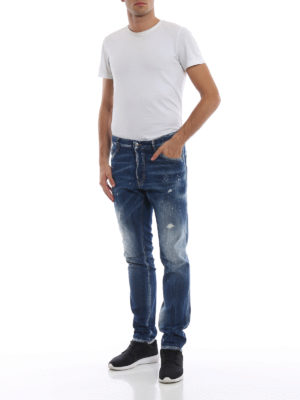 a sigaretta - Jeans Cool Guy con macchie e strappi