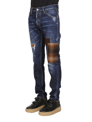 a sigaretta - Jeans Cool Guy con toppe