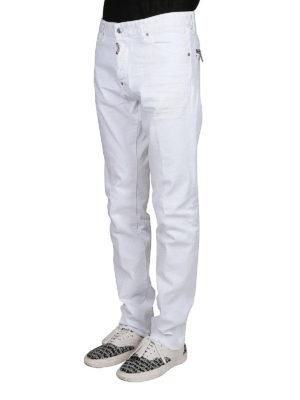 a sigaretta - Jeans slim Cool Guy in denim bianco
