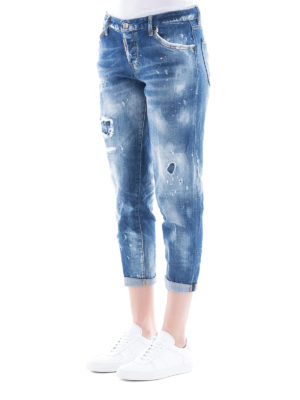 a sigaretta - Jeans Ripped Jennifer Cropped