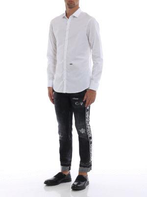 a sigaretta - Jeans rovinati Run Dan con risvolti