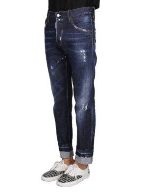 a sigaretta - Jeans Run Dan con risvolti