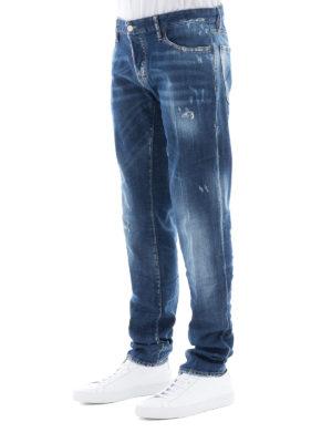 a sigaretta - Jeans slim dritti effetto used