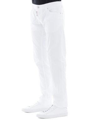 a sigaretta - Jeans dritti in cotone bianco