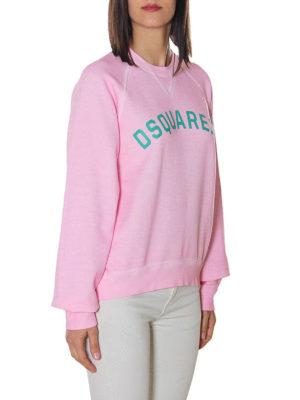 DSQUARED2: Felpe e maglie online - Felpa rosa con stampa logo