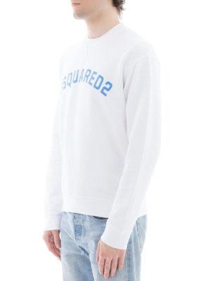 DSQUARED2: Felpe e maglie online - Felpa in cotone bianco con logo