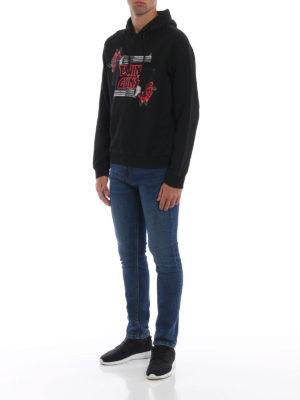 DSQUARED2: Felpe e maglie online - Felpa Twin Guns con cappuccio