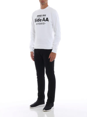 DSQUARED2: Felpe e maglie online - Felpa Two Sides bianca