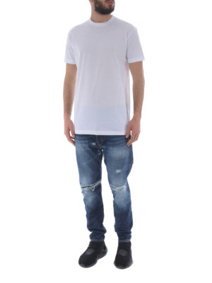 DSQUARED2: t-shirt online - T-shirt stampa Be Cool Be Nice