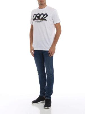 DSQUARED2: t-shirt online - T-shirt con dettagli colorati