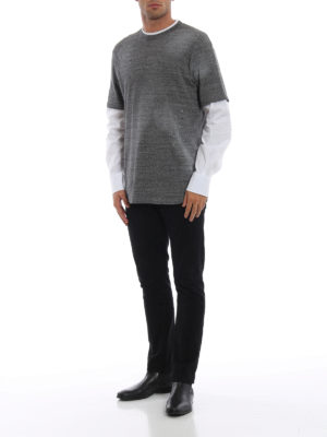 DSQUARED2: t-shirt online - T-shirt in cotone con manica lunga in tela
