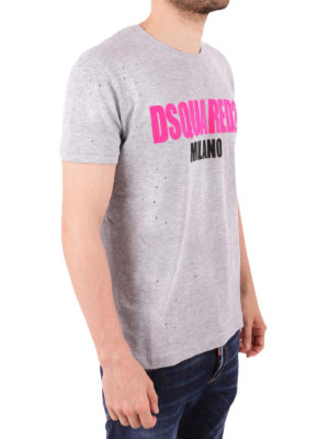 DSQUARED2: t-shirt online - T-shirt Dsquared2 Milano con fori