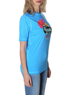 DSQUARED2: t-shirt online - T-shirt azzurra Hawaii Caten
