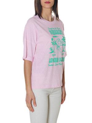 DSQUARED2: t-shirt online - T-shirt stampa Hawaiian Dreaming
