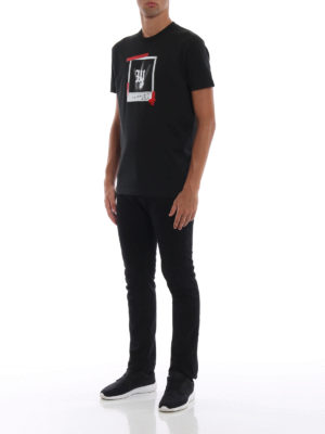 DSQUARED2: t-shirt online - T-shirt con stampa fotografie