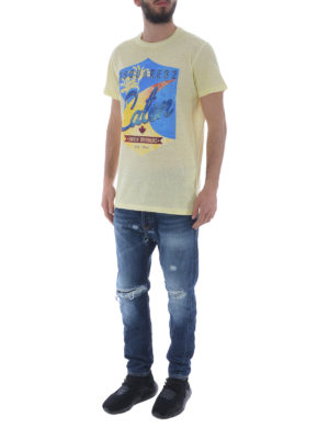 DSQUARED2: t-shirt online - T-shirt in cotone Surfin' Brothers