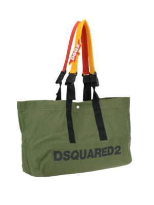DSQUARED2: shopper online - Borsa a mano Bad Scout in canvas