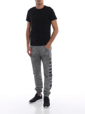 DSQUARED2: pantaloni sport online - Pantaloni da jogging grigi stampa crack