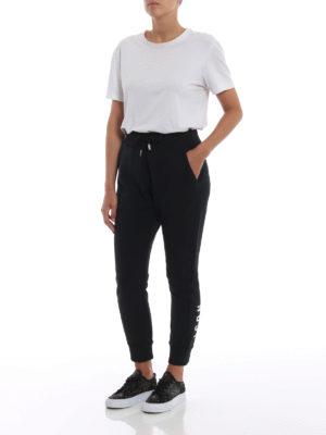 DSQUARED2: pantaloni sport online - Pantaloni neri da jogging Icon