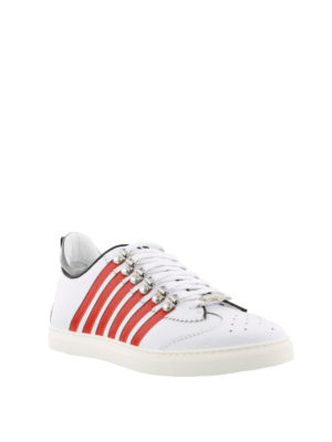 DSQUARED2: sneakers online - Sneaker bianche e rosse 251