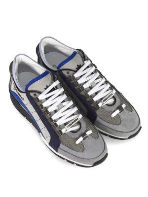 DSQUARED2: sneakers online - Sneaker 551 grigie e blu