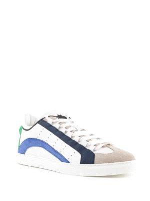 DSQUARED2: sneakers online - Sneaker 551 bande blue e verdi