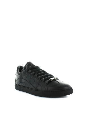 DSQUARED2: sneakers online - Sneaker 551 in pelle liscia nera