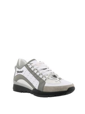 DSQUARED2: sneakers online - Sneaker 551 leggere bianche grigie