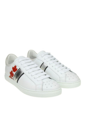 DSQUARED2: sneakers online - Sneaker Canadian Team in pelle