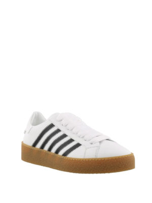 DSQUARED2: sneakers online - Sneaker low top in pelle con righe