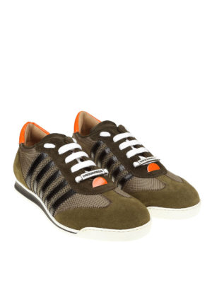 DSQUARED2: sneakers online - Sneaker New Runner color verde marcio