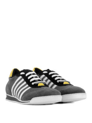 DSQUARED2: sneakers online - Sneaker New Runner in camoscio e tessuto