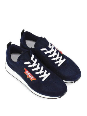 DSQUARED2: sneakers online - Sneaker New Runner Hiking blu