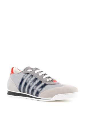 DSQUARED2: sneakers online - Sneaker New Runner suede e vernice