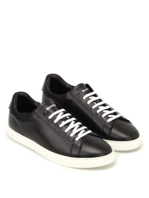 DSQUARED2: sneakers online - Sneaker in pelle nera New Tennis