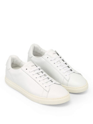 DSQUARED2: sneakers online - Sneaker in pelle bianca New Tennis