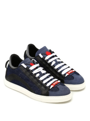 DSQUARED2: sneakers online - Sneaker Runner n denim e nappa