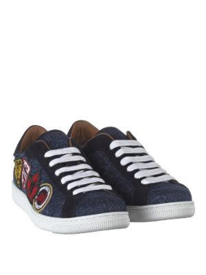 DSQUARED2: sneakers online - Sneaker in denim Santa Monica